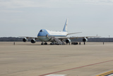 Photo - Air Force One is seen at Joint Base Andrews as United States President Donald J Trump departs Washington DC US for Los Angeles California on Tuesday February 18 2020Credit Stefani Reynolds  CNPAdMedia