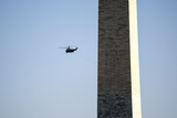 Marine One Photo - Marine One carrying US President Joe Biden departs the Ellipse of the White House in Washington DC US on Friday April 16 2021 Biden will travel to Wilmington Delaware for the weekend Credit Stefani Reynolds  Pool via CNPAdMedia