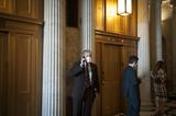 Photos From Senators Departs Senate Chamber Following a Vote