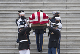 Photo - The casket carrying Supreme Court Justice Ruth Bader Ginsburg departs the US Capitol in Washington DC Friday September 25 2020 after lying in state in Statuary Hall Justice Ginsburg died from her battle with pancreatic cancer and is the first woman to lie in state at the US Capitol Credit Rod Lamkey  CNPAdMedia