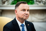Photo - Polish PresidentAndrzej Duda during a bilateral meeting with United States President Donald J Trump in the Oval Office of the White House in Washington DC on June 24 2020 Credit Erin Schaff  Pool via CNPAdMedia