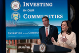 Photos From Vice President Kamala Harris announces the disbursement of nearly $1.25 billion for Community Development Financial Institutions