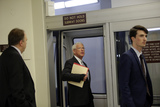 The Subways Photo - Representative Roger Wicker a Republican from Mississippi rides the subway during a break from the impeachment trial at the US Capitol in Washington DCon Thursday January 30 2020 Credit Joshua Lott  CNPAdMedia