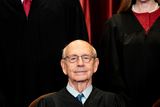 Group Photo Photo - Associate Justice of the Supreme Court Stephen G Breyer sits during a group photo of the Justices at the Supreme Court in Washington DC on April 23 2021 Credit Erin Schaff  Pool via CNPAdMedia