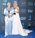 Photo - 13 January 2019 - Santa Monica California - Glenn Close Lady Gaga The 24th Annual Critics Choice Awards - Press Room held at Barker Hangar Photo Credit Birdie ThompsonAdMedia