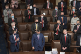 Photo - Electoral votes are counted during a joint session of the United States Congress to certify the results of the 2020 presidential election in the US House of Representatives Chamber in the US Capitol in Washington DC on Wednesday January 6 2021  Congressional Republicans have announced they are going to challenge the Electoral votes from up to six swing statesCredit Rod Lamkey  CNPAdMedia