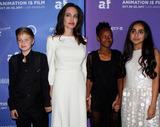 Photo - 20 October 2017 - Hollywood California - Shiloh Jolie-Pitt Angelina Jolie Zahara Jolie-Pitt and Saara Chaudry The Breadwinner US Premiere held at the TCL Chinese 6 Theatre in Hollywood Photo Credit AdMedia