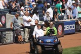 Photo - New York Yankees Retire Andy Pettitte Number46 on Sunday August 23rd 2015 Jose Posada Number 20 Was Also Retired on Saturday August 22nd 2015 Photo by William Regan- Globe Photos Inc 2015
